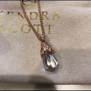 Kendra Scott Colby necklace in rose gold